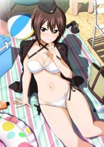 Rating: Safe Score: 81 Tags: amagasa_ikuta bikini cleavage girls_und_panzer nishizumi_maho swimsuits uniform User: RyuZU