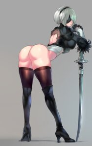 Rating: Questionable Score: 35 Tags: ass heels leotard negresco nier_automata sword thighhighs yorha_no.2_type_b User: Genex