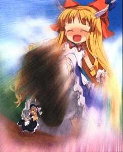 Rating: Safe Score: 9 Tags: ibuki_suika kirisame_marisa moriki_takeshi touhou User: Radioactive