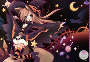 Rating: Safe Score: 34 Tags: animal_ears fixed karory tail thighhighs witch User: keyboyzzz