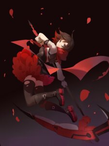Rating: Safe Score: 61 Tags: dress red_flowers ruby_rose rwby thighhighs torn_clothes weapon User: charunetra
