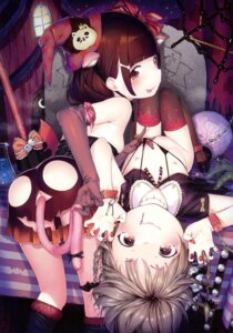 Rating: Explicit Score: 82 Tags: animal_ears ass bondage bottomless bra breasts halloween henreader lingerie loli nipples no_bra nopan tail thighhighs User: Twinsenzw