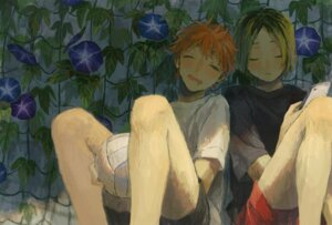 Rating: Safe Score: 6 Tags: haikyuu!! hinata_shouyou kozume_kenma tagme_artist_translation User: Debbie