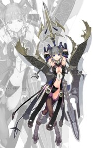 Rating: Safe Score: 82 Tags: cleavage devil horns maebari nakaba_reimei sword thighhighs User: oilman