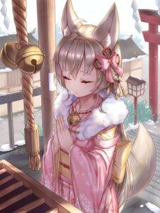 Rating: Safe Score: 21 Tags: animal_ears kimono kitsune miko_no_kamiko tail User: Mr_GT