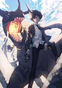 Rating: Safe Score: 40 Tags: digimon_adventure greymon male monster ser323 yagami_taichi User: KazukiNanako