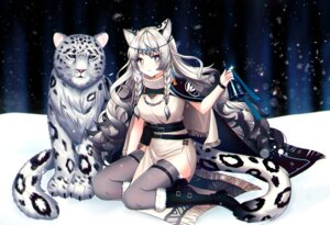 Rating: Safe Score: 16 Tags: animal_ears arknights dress mamel_27 pramanix_(arknights) tail thighhighs User: Mr_GT