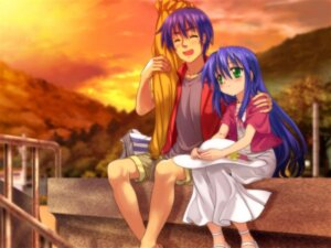 Rating: Safe Score: 12 Tags: izumi_kanata izumi_soujirou lucky_star moonknives wallpaper User: Haitoku