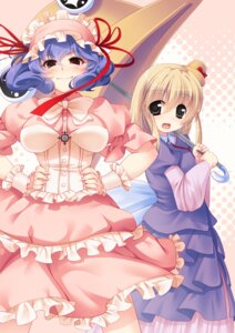 Rating: Safe Score: 18 Tags: asou_natsume lolita_fashion moriya_suwako touhou umbrella yasaka_kanako User: Mr_GT
