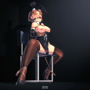 Rating: Explicit Score: 63 Tags: animal_ears bondage breasts bunny_ears bunny_girl cum dildo fishnets heels hidden nipples no_bra nopan pussy_juice thighhighs User: Mr_GT