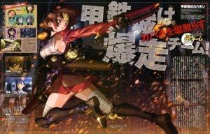 Rating: Questionable Score: 28 Tags: armor bandages gun koutetsujou_no_kabaneri mumei no_bra tezuka_kyouhei User: drop