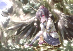 Rating: Safe Score: 13 Tags: shameimaru_aya shunsuke touhou wings User: ddns001