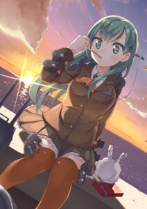 Rating: Safe Score: 15 Tags: getou kantai_collection seifuku suzuya_(kancolle) thighhighs User: Mr_GT