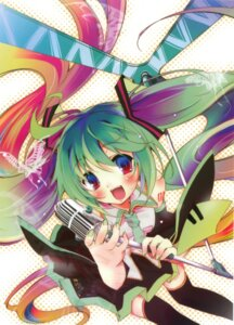 Rating: Safe Score: 13 Tags: hatsune_miku kamiya_yuu thighhighs vocaloid User: Share