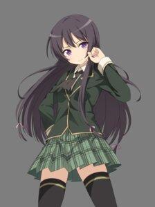 Rating: Safe Score: 39 Tags: boku_wa_tomodachi_ga_sukunai mikazuki_yozora seifuku thighhighs transparent_png User: saemonnokami