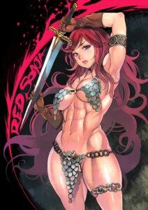 Rating: Questionable Score: 42 Tags: bikini_armor f.s. garter sword underboob User: blooregardo