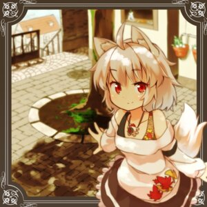 Rating: Safe Score: 43 Tags: animal_ears inubashiri_momiji tail tekka-maki touhou User: Romio88