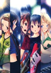 Rating: Safe Score: 17 Tags: akiyama_mio guitar hirasawa_yui k-on! kotobuki_tsumugi nakano_azusa suika_wari tainaka_ritsu User: Ice