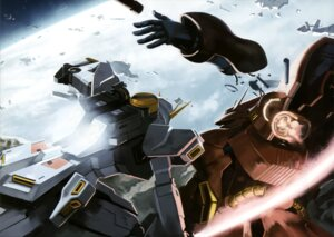 Rating: Safe Score: 6 Tags: char's_counterattack gun gundam mecha nu_gundam sazabi sword weapon User: drop