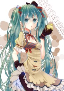 Rating: Safe Score: 42 Tags: cleavage dress hatsune_miku pantyhose skirt_lift tika_(twilight_drop) vocaloid User: Mr_GT