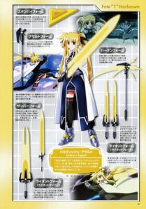 Rating: Safe Score: 5 Tags: fate_testarossa mahou_shoujo_lyrical_nanoha mahou_shoujo_lyrical_nanoha_strikers sword thighhighs User: noirblack