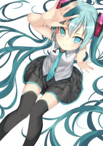 Rating: Safe Score: 43 Tags: hatsune_miku monobe_tsukuri thighhighs vocaloid User: nphuongsun93