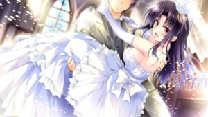 Rating: Questionable Score: 44 Tags: dress ensemble_(company) game_cg golden_marriage hayakawa_harui shimakage_ruri tachibana_nagisa wedding_dress User: abdulaziz5