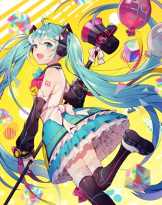 Rating: Safe Score: 43 Tags: azit_(down) hatsune_miku headphones tattoo thighhighs vocaloid User: Mr_GT