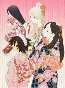 Rating: Safe Score: 8 Tags: kimono kimura_kaere kitsu_chiri komori_kiri kumeta_kouji sayonara_zetsubou_sensei sekiutsu_maria_taro User: Radioactive