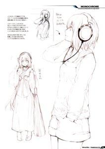 Rating: Safe Score: 10 Tags: fujishima headphones miko monochrome raving_phantom User: Hatsukoi