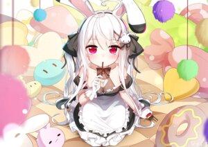 Rating: Questionable Score: 25 Tags: animal_ears bunny_ears cleavage maid niliu_chahui sen_ya tokisaki_mio User: Mr_GT