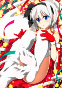 Rating: Safe Score: 49 Tags: christmas feet konpaku_youmu sazanami_mio thighhighs touhou User: Mr_GT