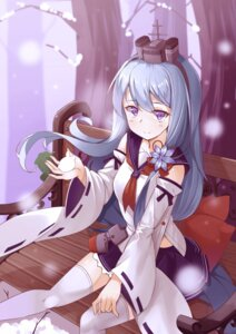 Rating: Safe Score: 35 Tags: ootsuki_momiji seifuku shirayuki_(zhanjianshaonv) thighhighs zhanjianshaonv User: Mr_GT