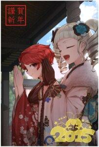 Rating: Safe Score: 12 Tags: aikatsu! hitoto ichinose_kaede kimono toudou_yurika User: charunetra