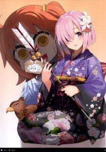 Rating: Questionable Score: 16 Tags: fate/grand_order fujimaru_ritsuka kimono mash_kyrielight parsley_(kn-08) yukata User: kiyoe
