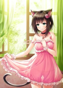 Rating: Safe Score: 63 Tags: animal_ears cleavage dress maekawa_miku nekomimi pantsu see_through skirt_lift string_panties tail the_idolm@ster the_idolm@ster_cinderella_girls wasumi_(hasubatake39) User: fairyren