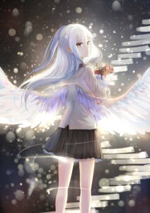 Rating: Safe Score: 89 Tags: angel_beats! seifuku sishenfan tenshi wings User: Humanpinka