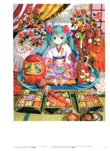 Rating: Safe Score: 40 Tags: fuzichoko hatsune_miku kimono umbrella vocaloid User: fireattack