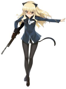Rating: Safe Score: 29 Tags: a1 animal_ears initial-g megane nekomimi pantsu pantyhose perrine-h_clostermann strike_witches User: Radioactive