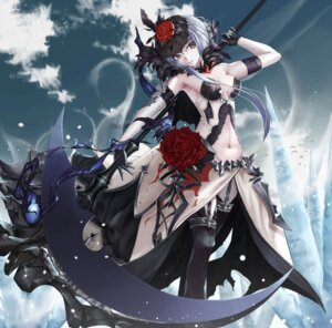 Rating: Questionable Score: 26 Tags: armor bikini_armor cleavage nekobell sinoalice stockings thighhighs torn_clothes weapon User: sym455