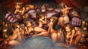 Rating: Questionable Score: 83 Tags: ass breast_hold cleavage dragon's_crown dress feet monster no_bra see_through shigatake User: charunetra