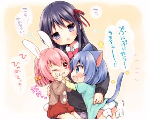 Rating: Safe Score: 20 Tags: animal_ears bunny_ears mani nekomimi pantsu seifuku tail User: fairyren