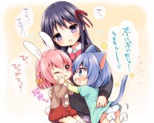 Rating: Safe Score: 21 Tags: animal_ears bunny_ears mani nekomimi pantsu seifuku tail User: fairyren