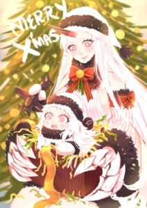 Rating: Safe Score: 19 Tags: christmas dress horns kantai_collection meoon no_bra northern_ocean_hime seaport_hime User: Mr_GT