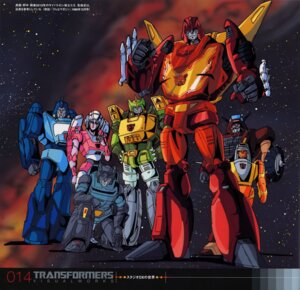 Rating: Safe Score: 9 Tags: arcee blurr chear hot_rodimus mecha nonaka_tsuyoshi sprang transformers wheelie wreck-gar User: Radioactive