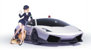 Rating: Safe Score: 72 Tags: cleavage fate/stay_night heels maredoro police_uniform saber User: Mr_GT