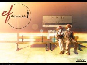 Rating: Safe Score: 12 Tags: 2c=galore asou_renji ef_~a_fairytale_of_the_two~ eyepatch minori nanao_naru seifuku shindou_chihiro wallpaper User: ayuna
