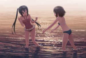 Rating: Questionable Score: 26 Tags: bikini hirasawa_yui isou_nagi k-on! nakano_azusa swimsuits User: KiNAlosthispassword