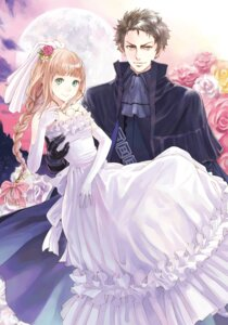 Rating: Safe Score: 26 Tags: digital_version dress kishida_mel megane shinigamihime_no_saikon wedding_dress User: blooregardo
