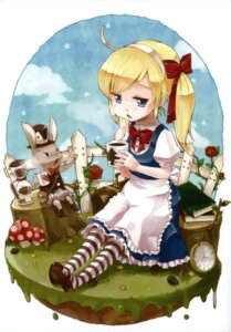Rating: Safe Score: 20 Tags: alice alice_in_wonderland dress meltdown_comet white_rabbit yukiu_con User: midzki